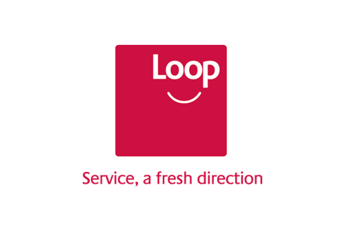 Loop logo. Service, a fresh direction